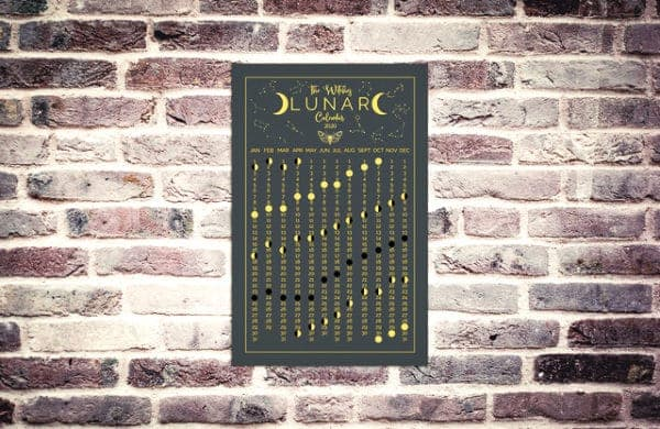 The 2020 Witches Lunar Wall Calendar